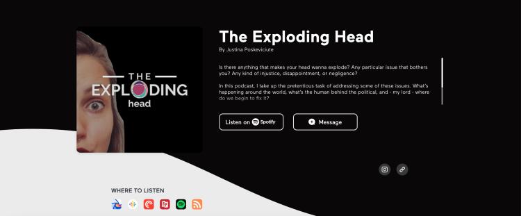 The Exploding Head podcast on Anchor - politics